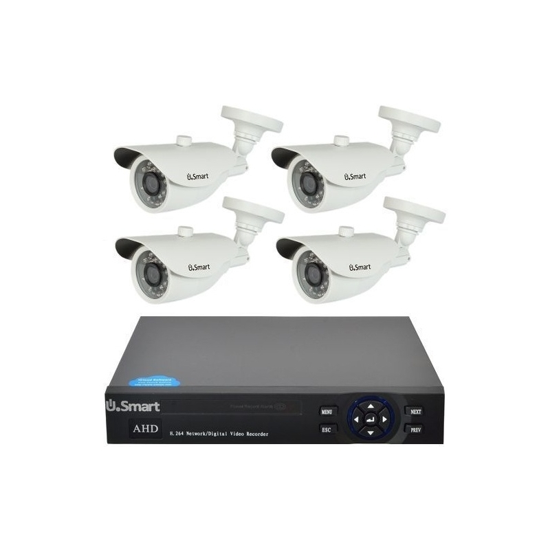 Kit Supraveghere Video Dvr U Smart Exterior 4 Camere Rotehnic
