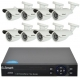 U Smart DVR Kit 8 rooms Bullet video surveillance