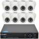 Kit dvr supraveghere video U Smart 720p 8 camere Dome