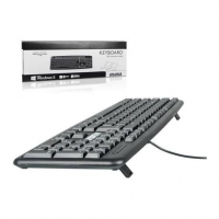4World USB computer keyboard black 104 keys