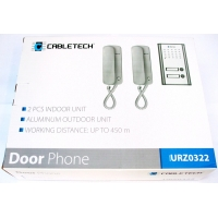 two door intercom gate house