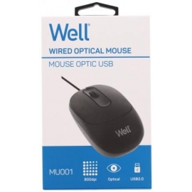 optical mouse black usb well