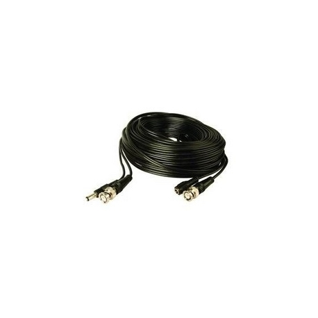 Coaxial and power supply plugged cable 15m