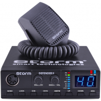 STORM Defender II with 4 at 8 W CB radio