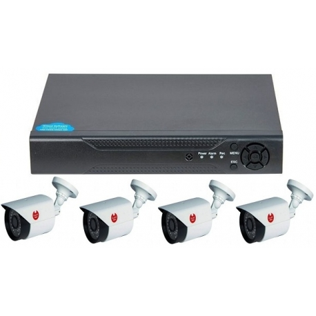 1080p video surveillance DVR Kit 4 rooms Guard View