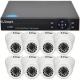 Kit dvr supraveghere video U Smart 720p 8 camere Dome